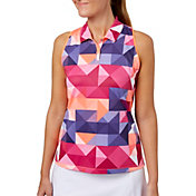 Slazenger Women's Solar Eclipse Collection Printed Sleeveless Golf Polo