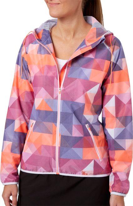 Slazenger Women's Solar Eclipse Collection Printed Hooded Golf Jacket