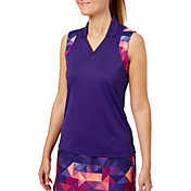 Slazenger Women's Solar Eclipse Collection Printed Racerback Golf Polo