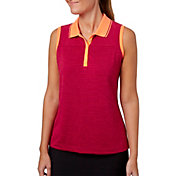 Slazenger Women's Solar Eclipse Collection Space Dye Sleeveless Golf Polo