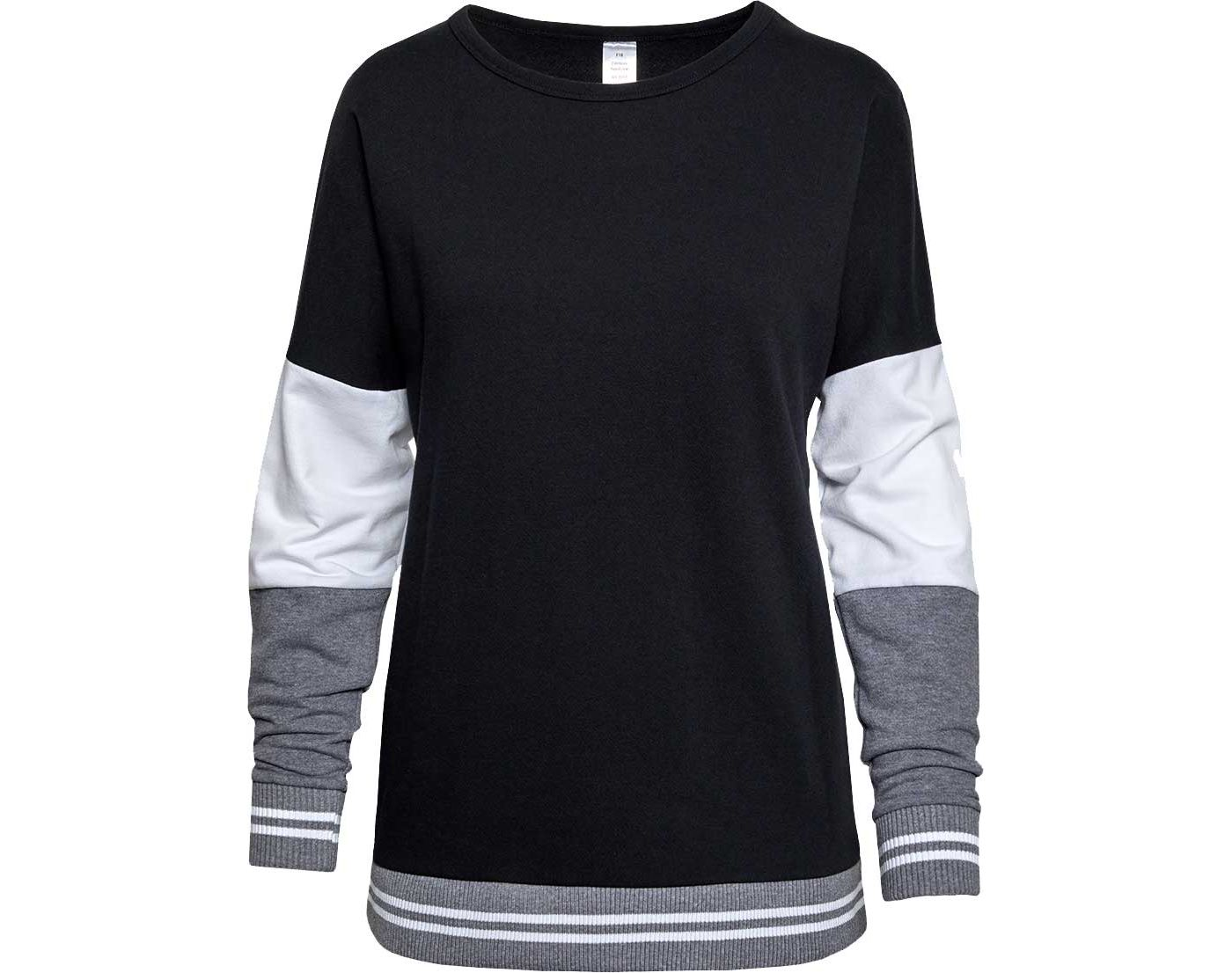 Soffe Girls' Colorblock Crew Neck Pullover