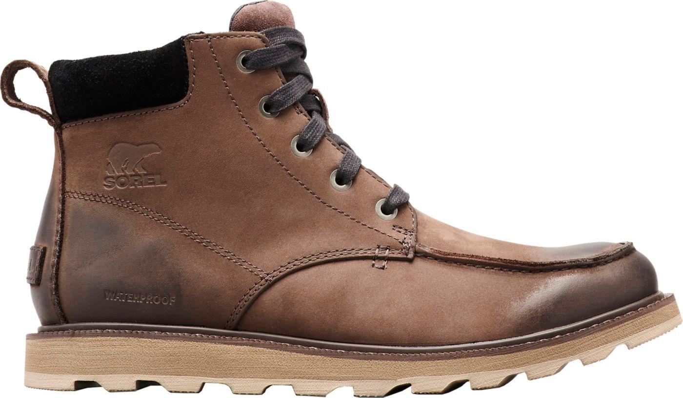 SOREL Men's Madson Moc Toe Waterproof Casual Boots
