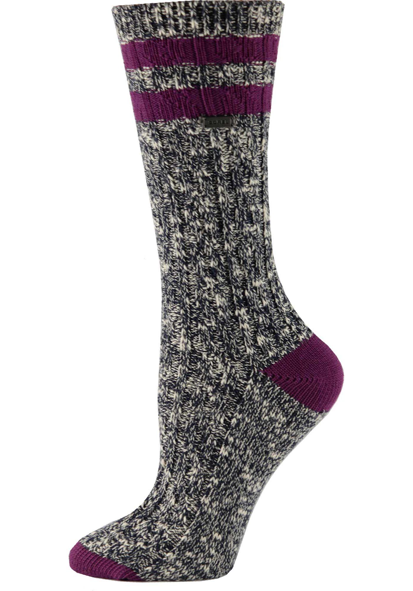 SOREL Women's Cotton Varsity Stripe Crew Socks