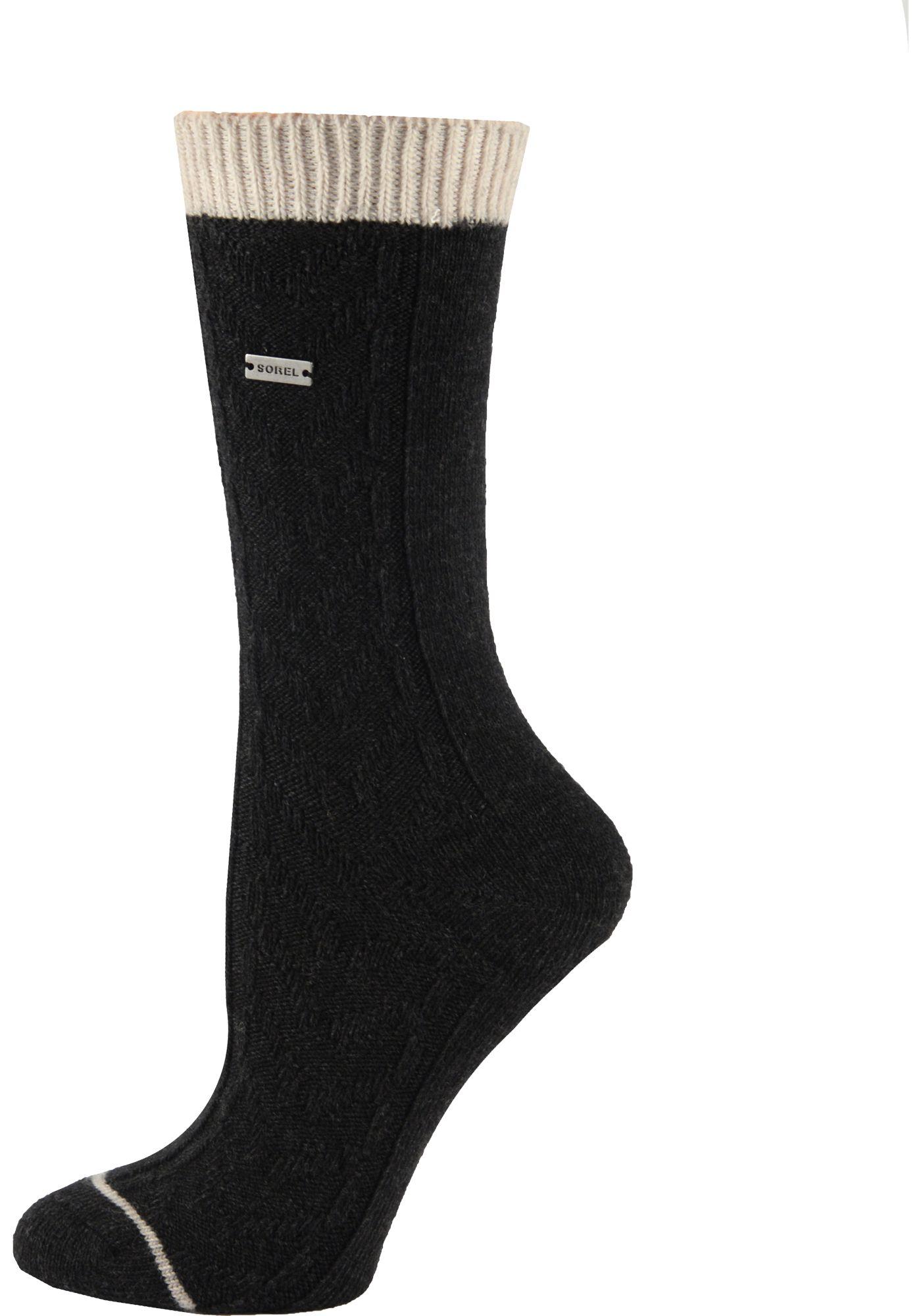 SOREL Women's Wool Novelty Cable Crew Socks