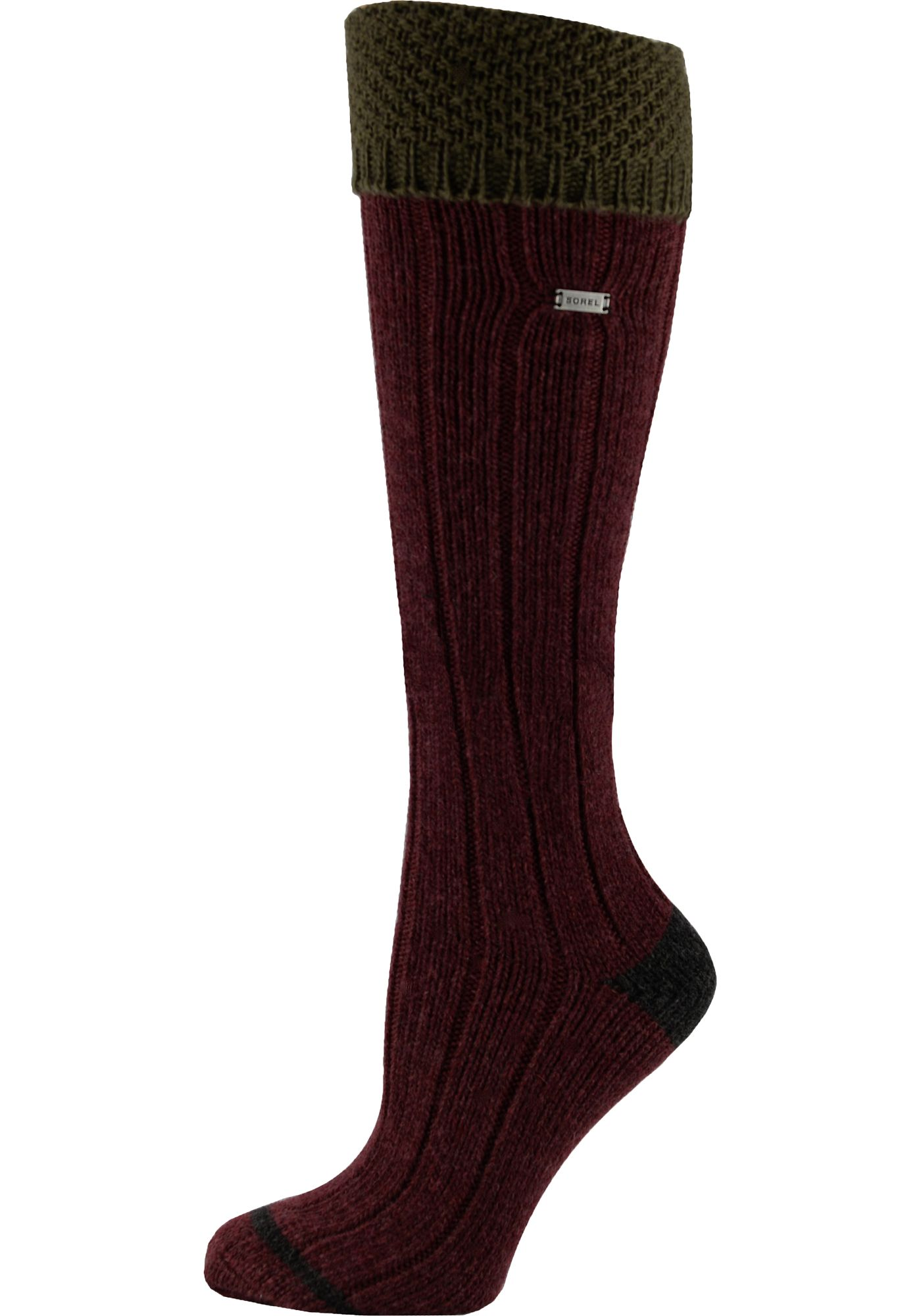 Sorel Women's Wool Turn Over Cuff Over the Calf Socks