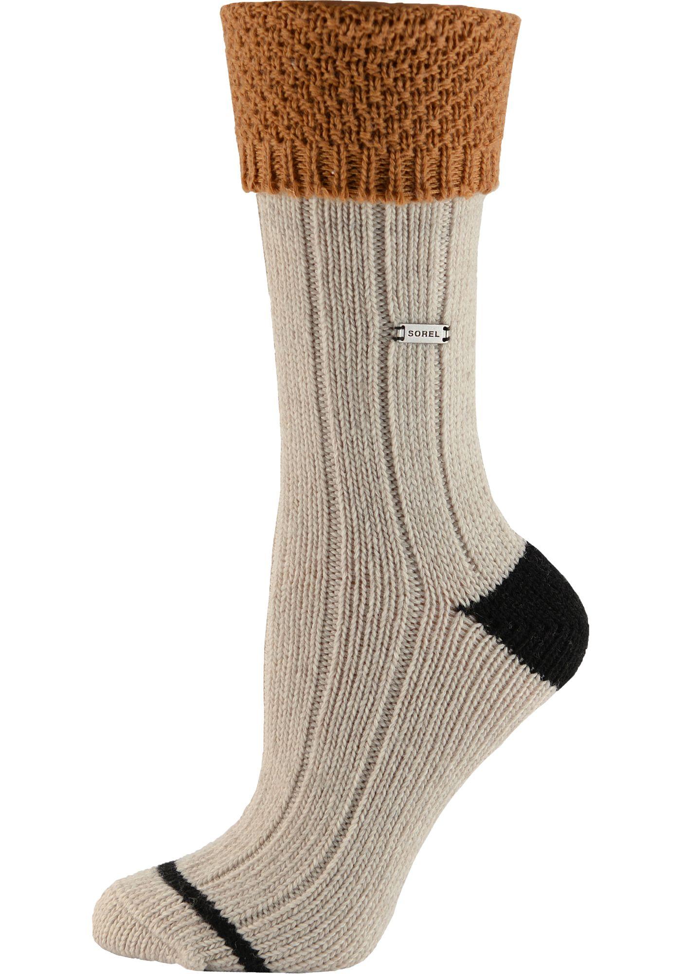 Sorel Women's Wool Turn Over Cuff Crew Socks