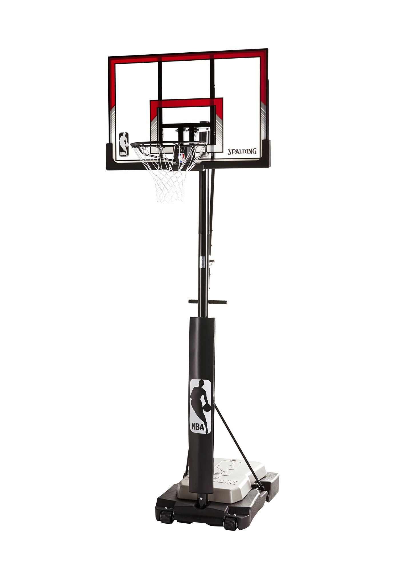 "Spalding® NBA 44"" Acrylic Ultimate Hybrid® Jr. Quick Glide™ Portable Hoop System"
