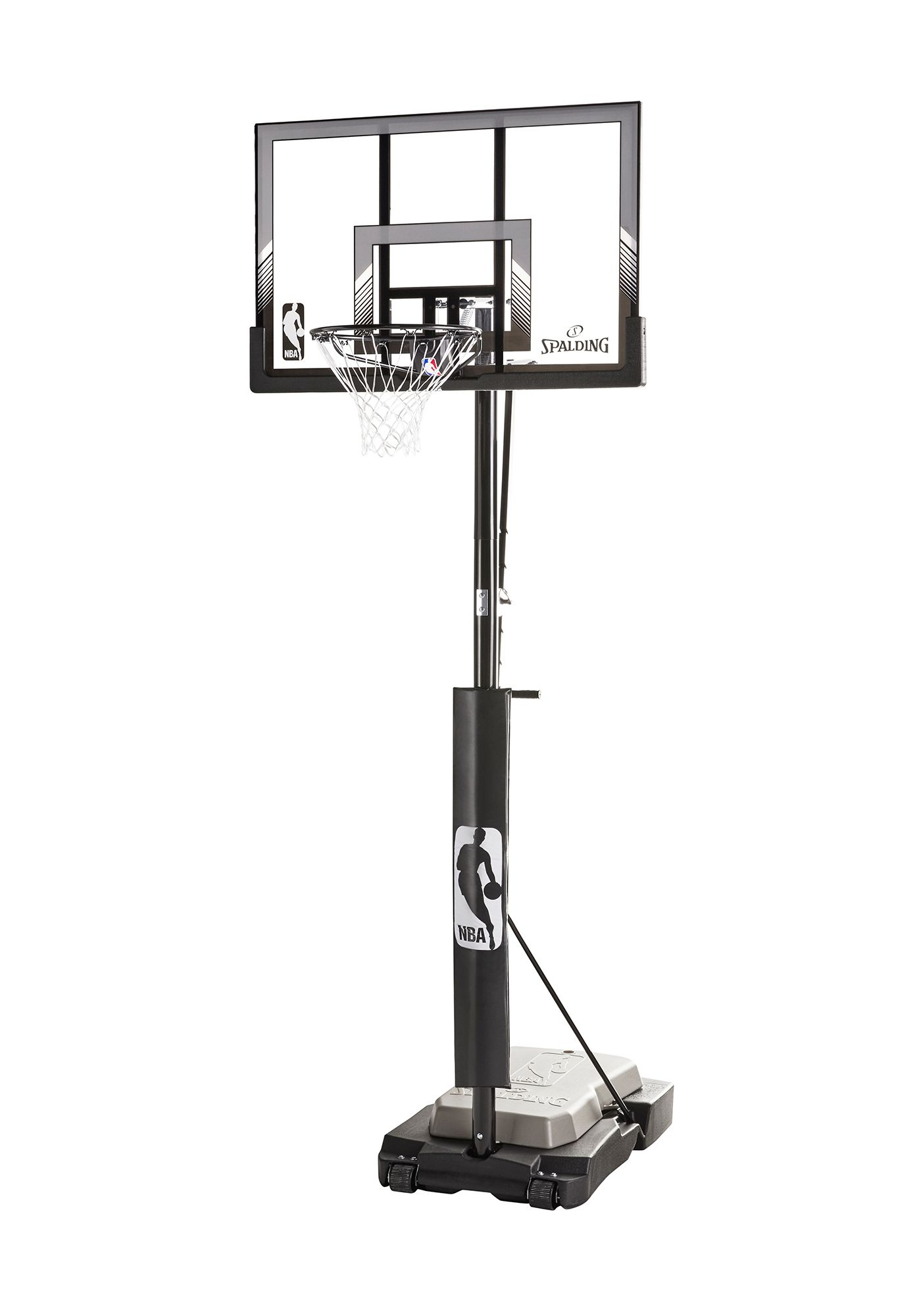 "Spalding® NBA 48"" Acrylic Ultimate Hybrid® Jr. Quick Glide™ Portable Hoop System"