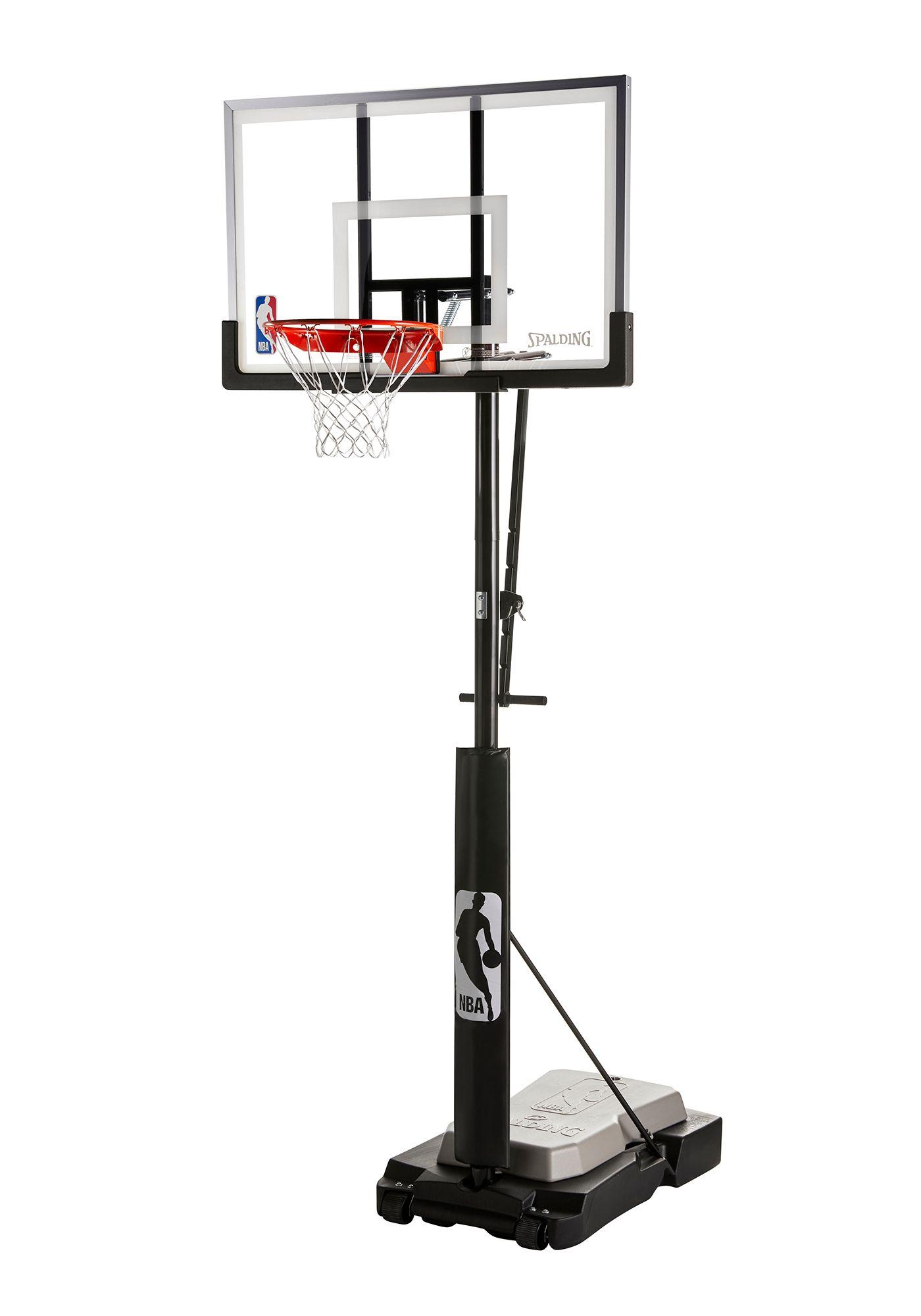"Spalding® NBA 50"" Acrylic Ultimate Hybrid® Jr. Quick Glide™ Portable Hoop System"
