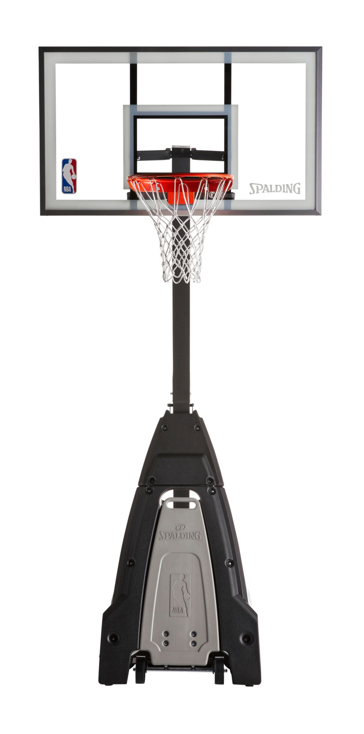 "Spalding NBA Beast 54"" Glass Portable Basketball Hoop"