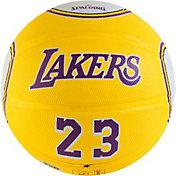 Spalding Los Angeles Lakers LeBron James Gold Full-Sized Court Side Basketball