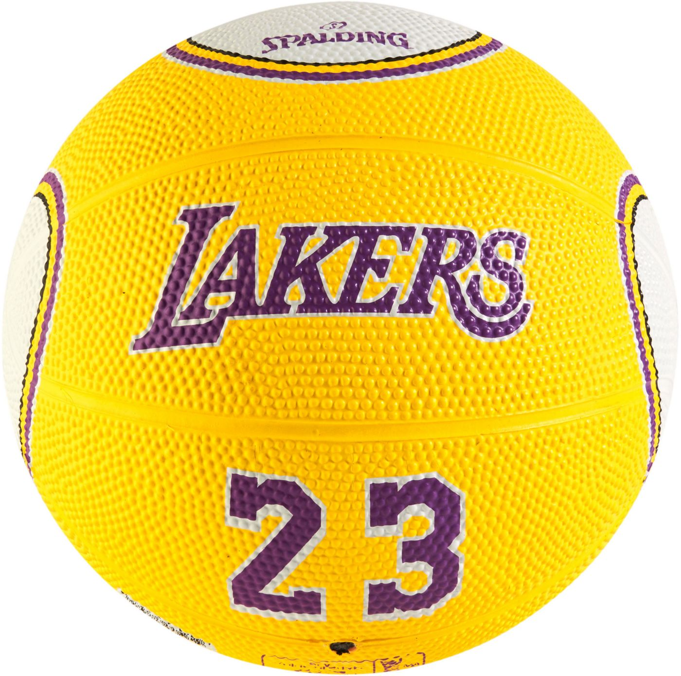 Spalding Los Angeles Lakers LeBron James Gold Mini Basketball