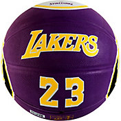 Spalding Los Angeles Lakers LeBron James Purple Full-Sized Court Side Basketball