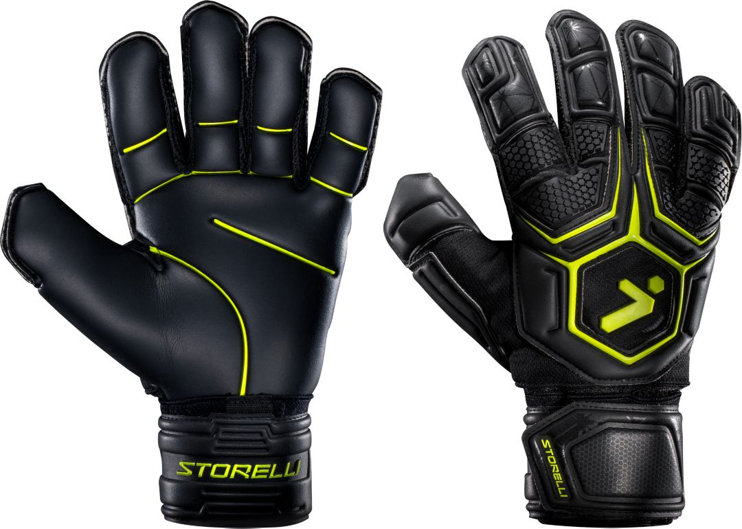 de24fd26780 Storelli Adult Gladiator 2.0 Pro Finger Spine Soccer Goalkeeper Gloves 1