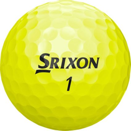 Srixon 2018 Soft Feel 11 Yellow Personalized Golf Balls