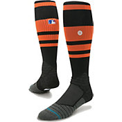 Stance MLB Diamond Pro On-Field Striped Black Sock