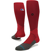 Stance MLB Diamond Pro On-Field Dark Red Sock