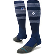 Stance MLB Diamond Pro On-Field Striped Navy Sock