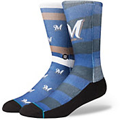 Stance Milwaukee Brewers Splatter Crew Socks