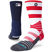Stance MLB League Fourth of July Diamond Pro Crew Socks