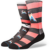 Stance Miami Marlins Splatter Crew Socks