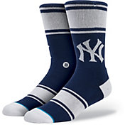 Stance New York Yankees Pinstripe Crew Socks