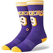 619ebe17c41 Stance Los Angeles Lakers LeBron James Big Head Socks