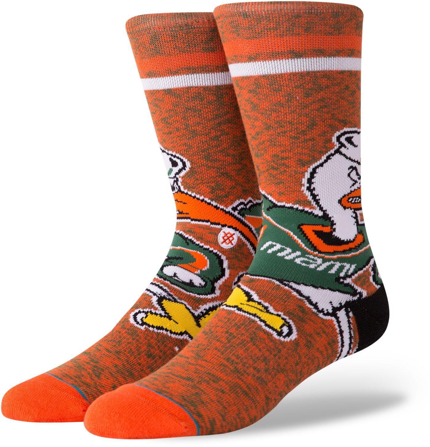 Stance Men's Miami Hurricanes Character Crew Socks