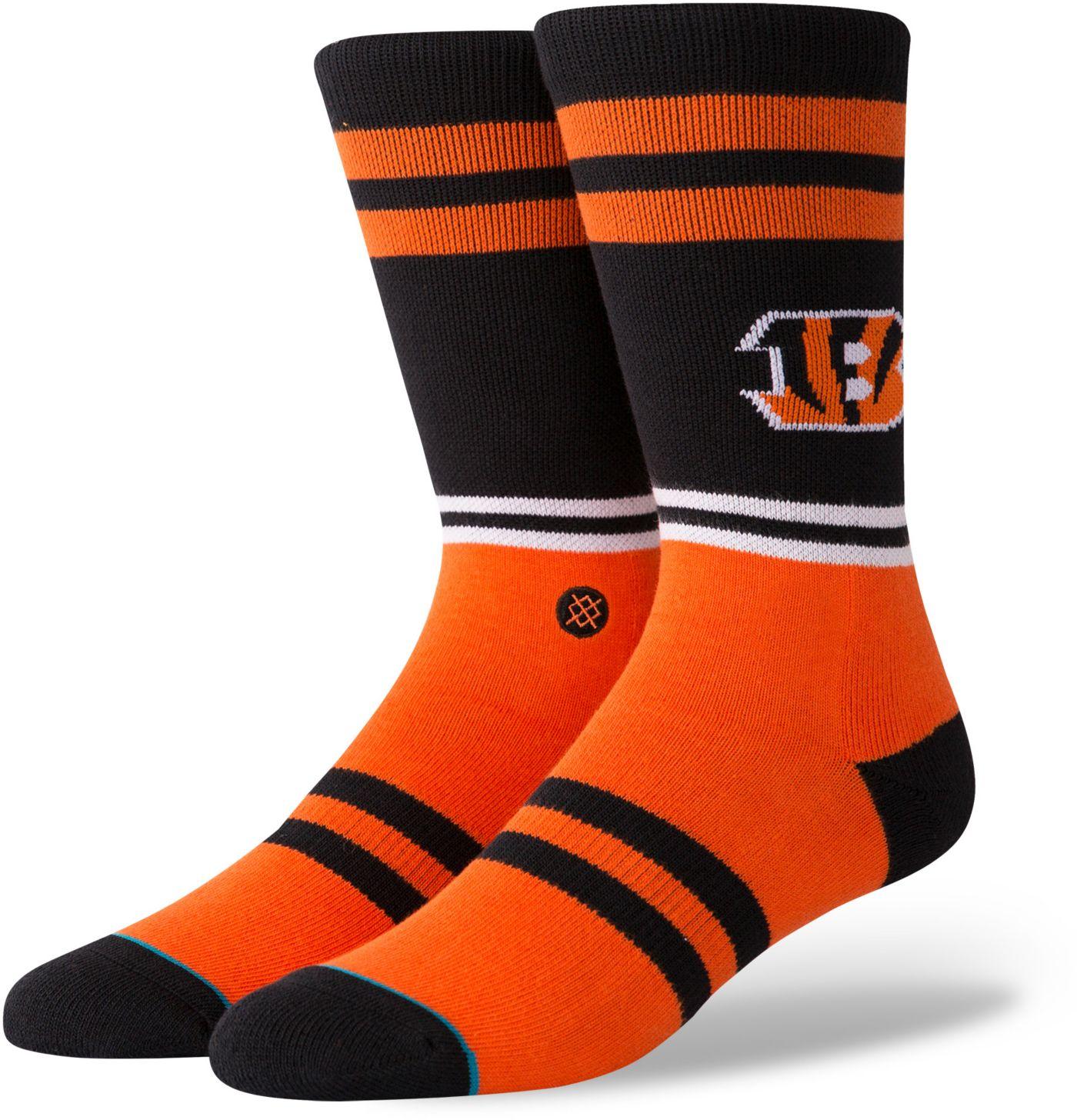 Stance Men's Cincinnati Bengals Logo Crew Socks