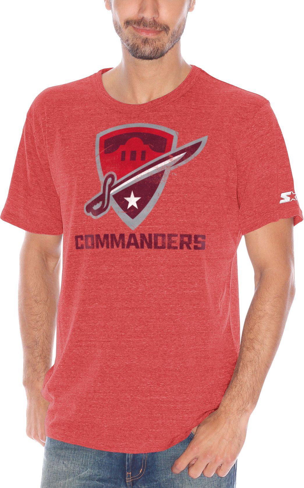Starter Men s San Antonio Commanders Champs Red Heathered T-Shirt ... 2723f415f5