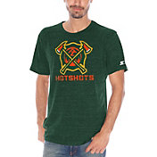 Starter Men's Arizona Hotshots Champs Green Heathered T-Shirt