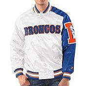 Starter Men's Denver Broncos White Throwback Satin Jacket