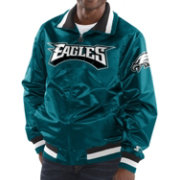 Starter Men's Philadelphia Eagles Teal Full-Zip Satin Jacket