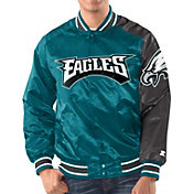 Starter Men's Philadelphia Eagles Teal Satin Jacket