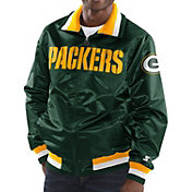 Starter Men's Green Bay Packers Green Full-Zip Satin Jacket
