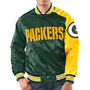 Starter Men's Green Bay Packers Green Satin Jacket