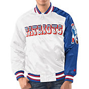 Starter Men's New England Patriots White Throwback Satin Jacket