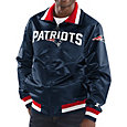 Starter Men's New England Patriots Navy Full-Zip Satin Jacket