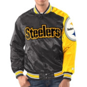Starter Men's Pittsburgh Steelers Black Satin Jacket