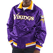 Starter Men's Minnesota Vikings Purple Full-Zip Satin Jacket