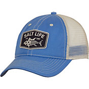 Salt Life Men's Red White and Bluefin Trucker Hat