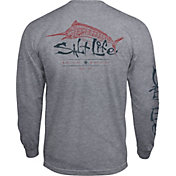 Salt Life Men's Etched Marlin Long Sleeve Pocket Tee