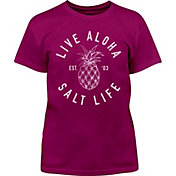 Salt Life Girls' Live Aloha Short Sleeve T-Shirt