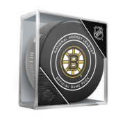 Sher-Wood Boston Bruins Autograph Puck