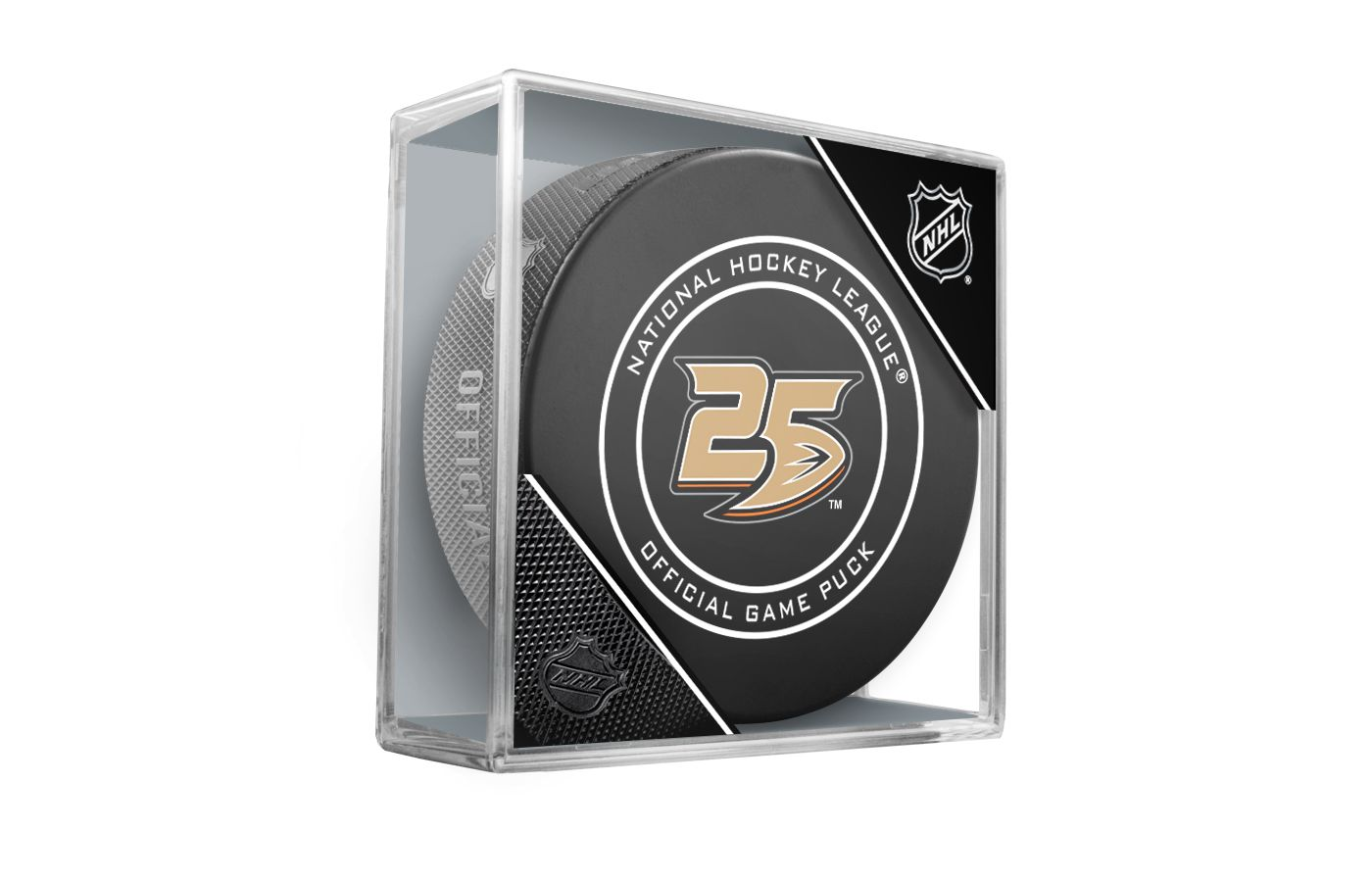 Sher-Wood Anaheim Ducks 25th Anniversary Puck
