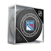 Sher-Wood New York Rangers Autograph Puck
