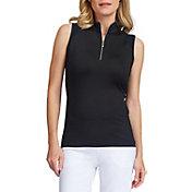 Tail Women's Sleeveless ¼ Zip Mini Mock Neck Golf Polo