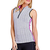 Tail Women's Cindy Sleeveless ¼-Zip Mock Neck Golf Top