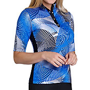 Tail Women's Elbow Sleeve Mock Neck Golf Polo