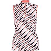 Tail Women's Sleeveless Jersey ¼-Zip Mock Neck Golf Top
